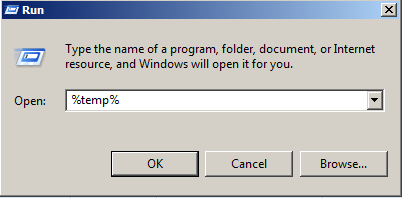 Clean up temporary files from pc