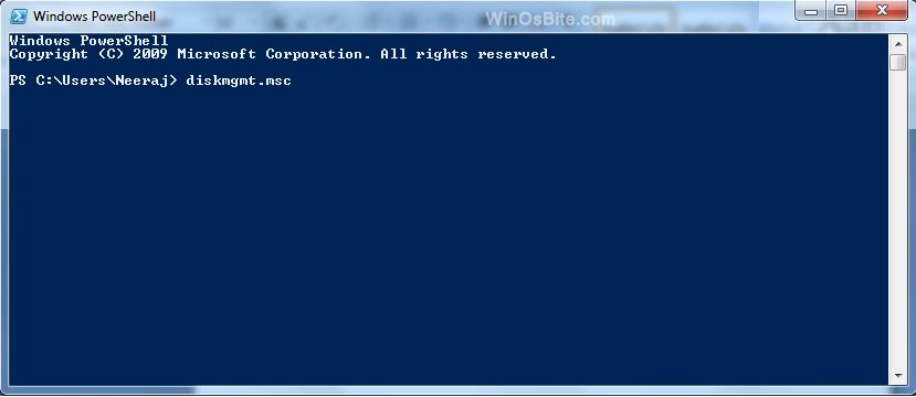 window powershell is also known as command prompt