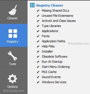 ccleaner настройки очистки реестра