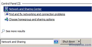 Сеть и общий доступ в Windows
