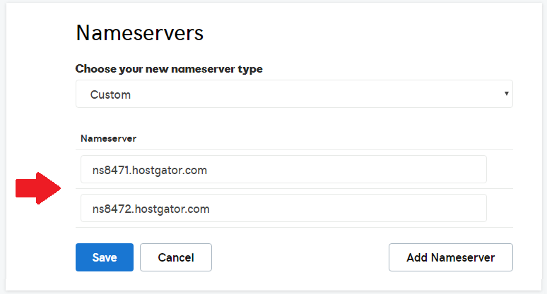 Возможность изменения серверов имен Godaddy