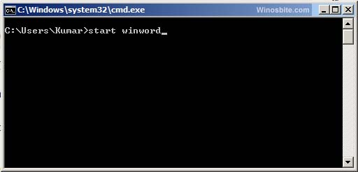 Run Command for MS Word