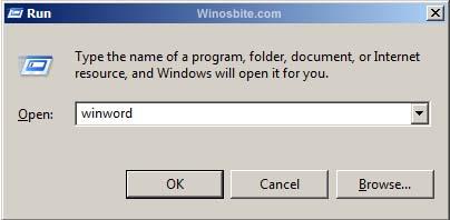 Запустить команду для MS Word