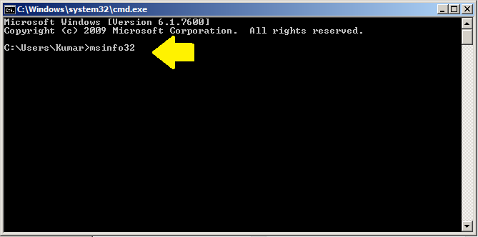 Команда DOS для системной информации