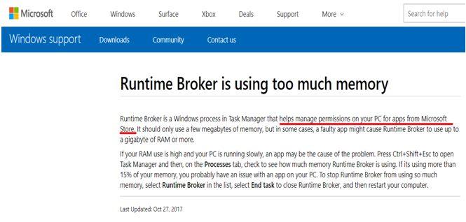 Официальное заявление Microsoft о брокере времени выполнения