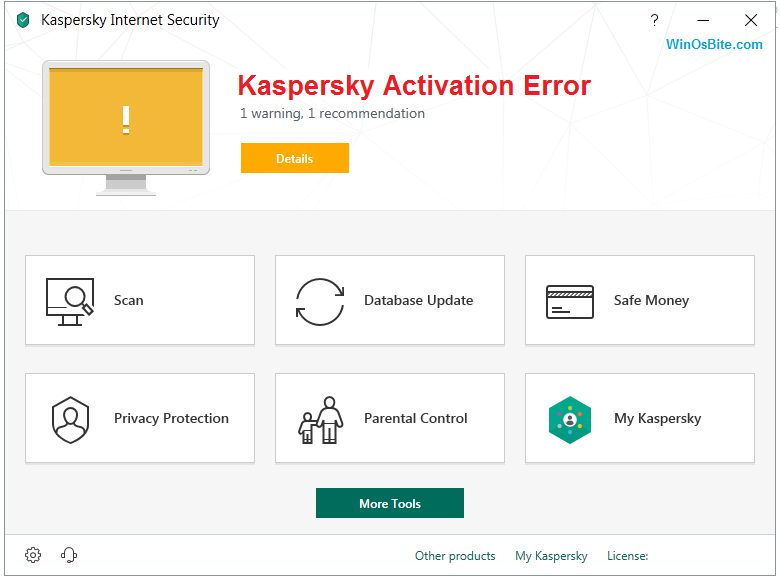 kaspersky security connection enter activation code