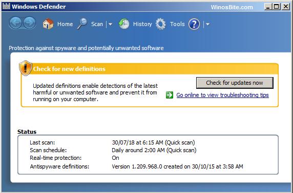 Программное обеспечение Защитника Windows