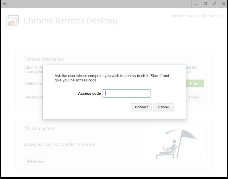 программное обеспечение для удаленного рабочего стола Chrome