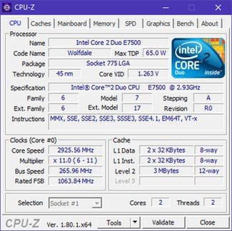 CPU-Z - это бесплатный инструмент для мониторинга ЦП.