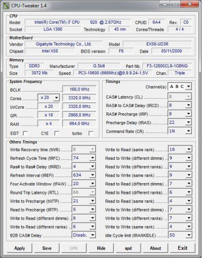 Бесплатная версия ПО CPU Tweaker