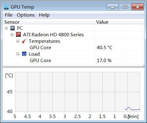 Программное обеспечение GPU Temp для контроля температуры системы