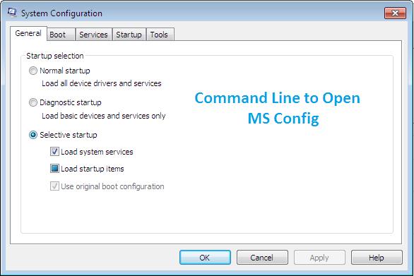 Запустите MSconfig с помощью команды и другими способами