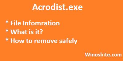 Информация о файле acrodist.exe