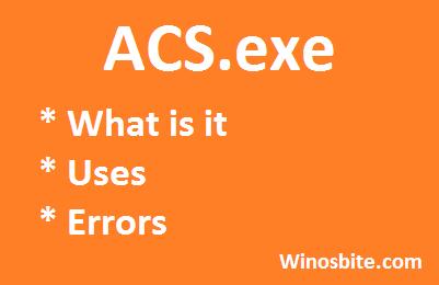 Информация о файле ACS.exe