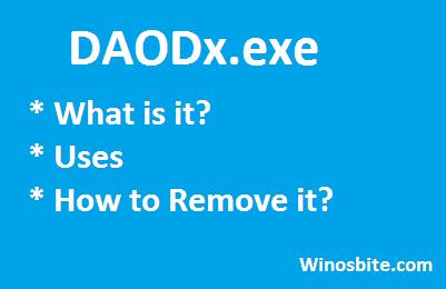 Информация о файле DAODx.exe