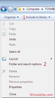 Опция организации в Windows
