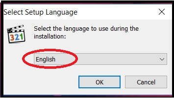 выберите язык для mpc-hc.exe
