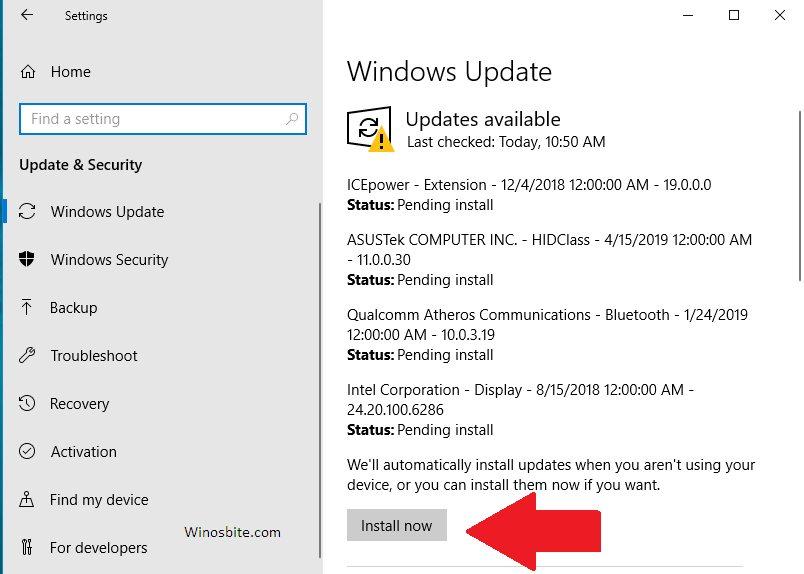 Вариант обновления Windows 10 готов к установке