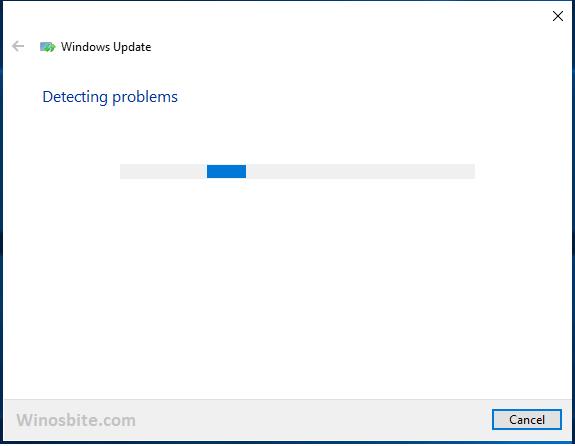 Программа устранения неполадок Windows запущена