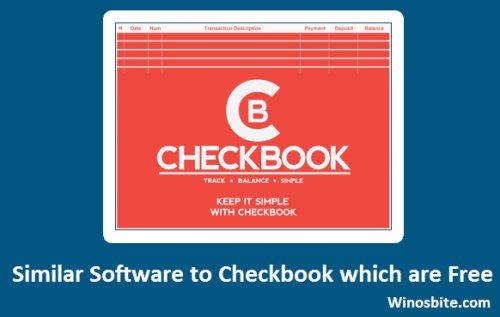 Программное обеспечение, аналогичное Checkbook