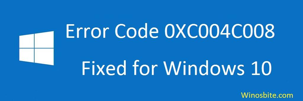 Ошибка 0XC004C008