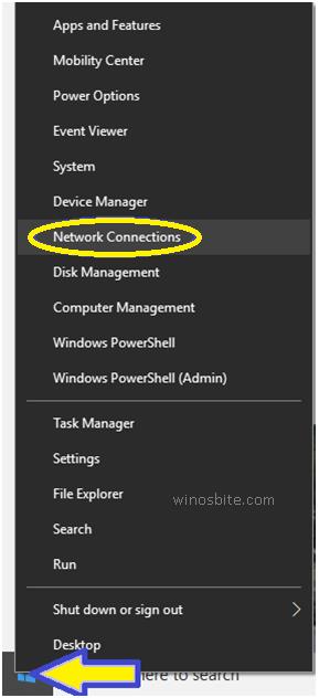 Сетевые подключения Windows10