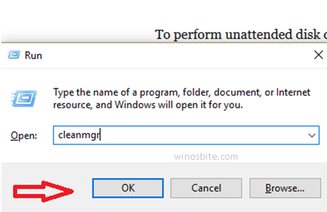 Windows10 Запустить подсказку Cleanmgr