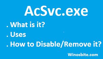 Информация о файле AcSvc.exe