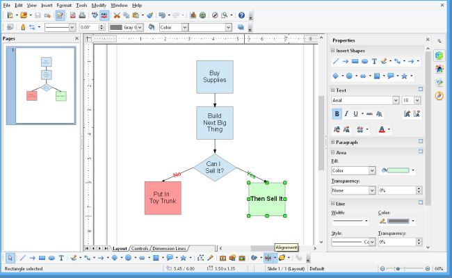 Программное обеспечение Apache OpenOffice Draw