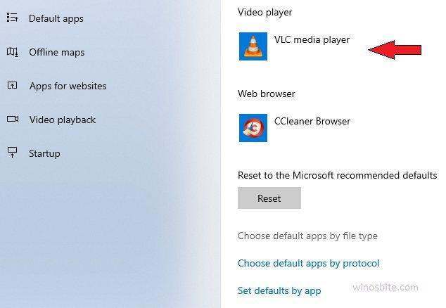 Выберите приложения по умолчанию по типу файла