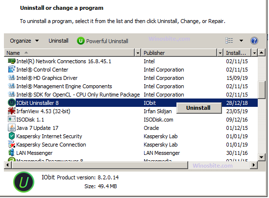 Удалите IObit, чтобы удалить ascservice.exe