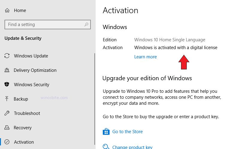 Windows активирована с помощью цифровой лицензии
