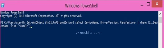 Список команд Windows Power Shell для просмотра версии конкретных драйверов устройств