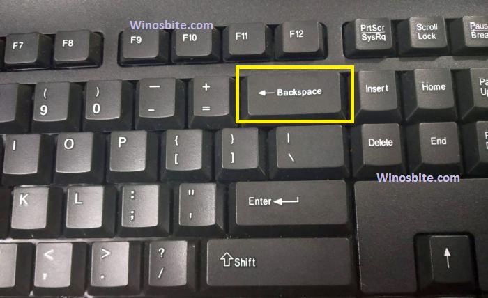 Исправлена проблема с неработающей клавишей Backspace