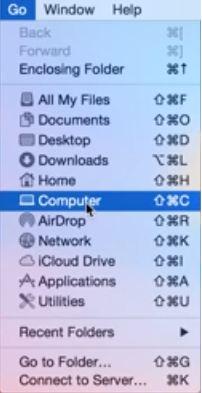 Перейти >> Компьютер в ноутбуке Mac» width=»202″ height=»393″/></noscript></noscript></p> <p>4) Теперь нажмите <strong>Macintosh HD</strong></p> <p><img data-lazyloaded=