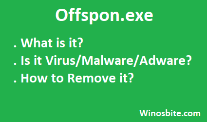 Что такое offspon.exe и его информация