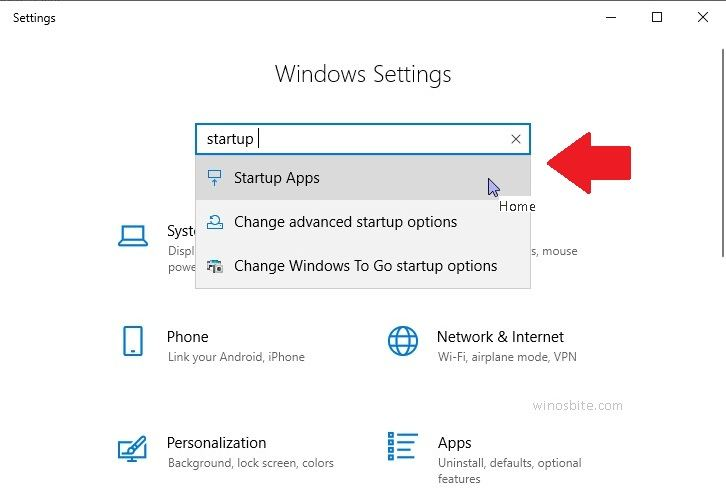 Настройки Windows в Windows 10