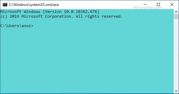 Изменение фона и цвета текста командной строки