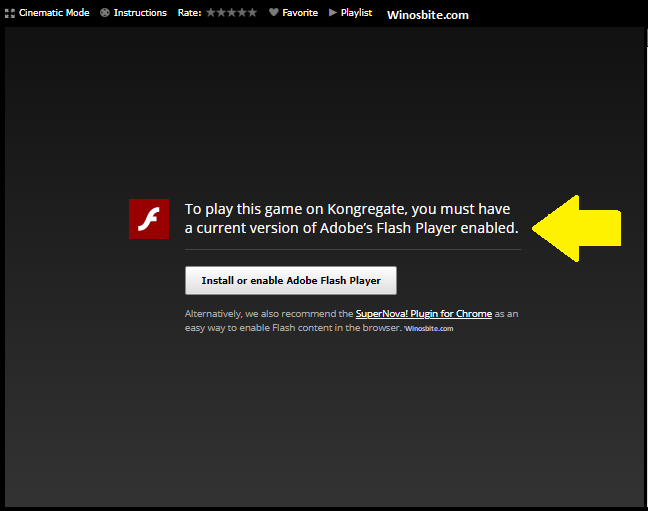 Flash-плеер отключен в браузере Chrome