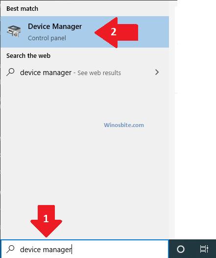 Откройте диспетчер устройств с помощью Cortana