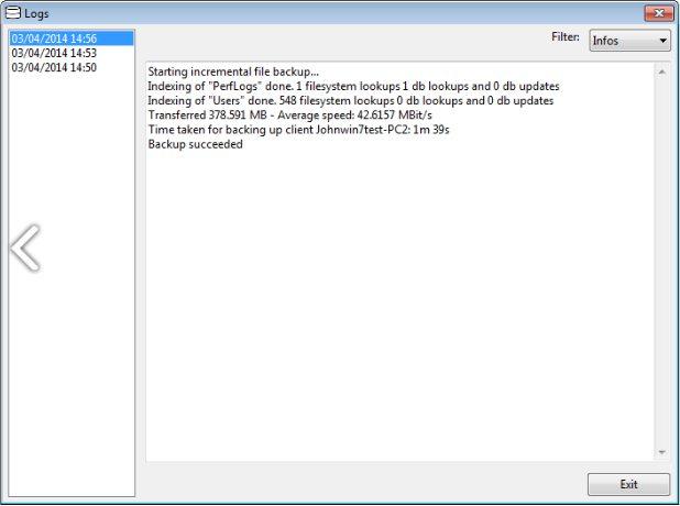 Скриншот Urbackup-2