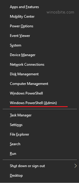 открыть администратор PowerShell