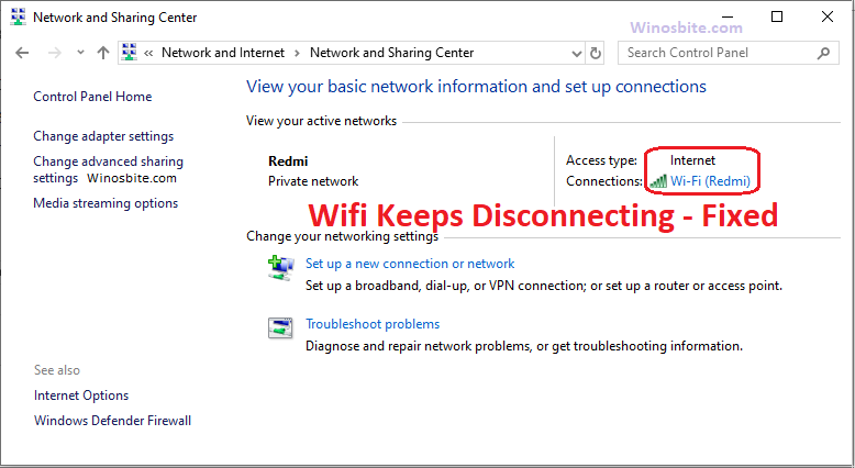 Fix Wifi Keeps Disconnecting Frequently on Windows 10