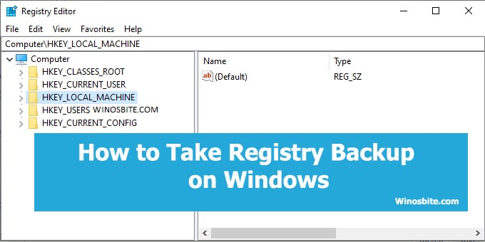 Как сделать резервную копию реестра в Windows 10