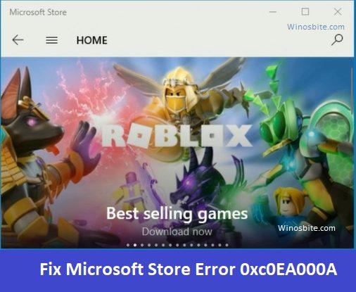 Ошибка магазина Microsoft 0xc0EA000A