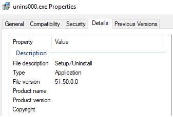 Информация о файле unins000.exe.