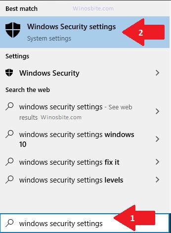 Параметры безопасности Windows