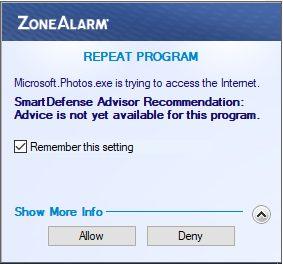 microsoft.photos.exe Доступ в Интернет
