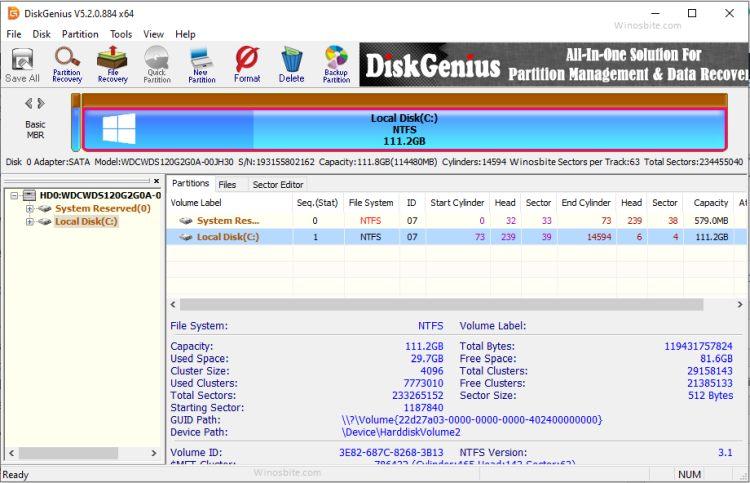 Бесплатная программа для восстановления данных PartitionGuru и хорошая альтернатива HDD Regenerator