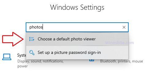 Настройки Windows для фотографий